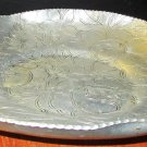 VINTAGE HAND WROUGHT ALUMINUM FLORAL PLATE WILSON SPECIALTIES BROOKLYN NY