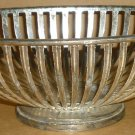 VINTAGE SILVERLATED WIRE OVAL FOOTED PEDESTAL BASKET BY TELEFLORA
