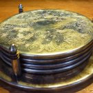 VINTAGE SILVERPLATE COASTERS ON A STAND CADDY DISTINCTIONS DUCHIN set of 4