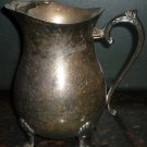 VINTAGE STUNNING SILVERPLATE FOOTED LEONARD PITCHER