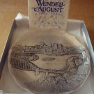 WENDELL AUGUST ALUMINUM PEWTER COLLECTIBLE COASTER PLATE PITTSBURG NMB COA
