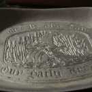 WILTON ARMETALE BREAD SERVER PLATTER GIVE US THIS DAY OUR DAILY BREAD MOUNT JOY