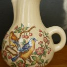 VINTAGE CERAMIC HANDPAINTED BLUE BIRD & FLOWERS LORD & TAYLOR'S PITCHER