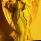 BAUTIFUL GREEN DRESS PRAYING ANGEL FIGURINE HARD RESIN