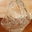 STUNNING VINTAGE BOHEMIAN LEAD CRYSTAL INTRICATE CUT GLASS BASKET FRUIT CANDY S