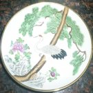 BEAUTIFUL GOLD BRASS ENCASED STORK BIRD DESIGN PORCELAIN BOWL