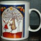 CHARMING NEWMAN MARCUS COLLECTIBLE PORCELAIN COFFEE/TEA MUG CHRISTMAS '96