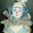 UNIQUE WOOD CERAMIC CLOWN HEAD MUSIC BOX SEND IN CLOWNS SUMMIT COLLECTION STOPPER
