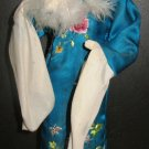 "VINTAGE VIETNAM GI SOUVENIR CLOTH DOLL BLUE FLOWER OUTFIT 15"" NEEDS TLC BupBe"