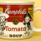 COLLECTIBLE CAMPBELL SOUP MUG 'FIRST WHITE & RED LABEL'