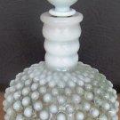 VINTAGE WHITE OPALESCENT HOBNAIL FENTON PERFUME BOTTLE