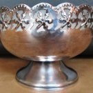 VINTAGE CELTIC QUALITY SILVERPLATE ENGLAND FROSTED GLASS INSERT LINER BOWL