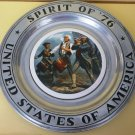 BEAUTIFUL WILTON ARMETALE BICENTENNIAL COMMEMORATIVE PLATE ENAMEL SPIRIT OF '76