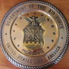 UNIQUE SOLID BRASS SCULPTURED PLATE PLAQUE DEPARTMENT OF AIR FORCE UNITED STATES