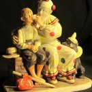 CHARMING CLOWN & BOY PORCELAIN FIGURINE 'THE RUNAWAY' NORMAN ROCKWELL BY GORHAM