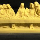 VINTAGE ALABASTER JESUS LAST SUPPER SANTINI CHRISTIANITY RELIGIOUS FIGURINE ITALY
