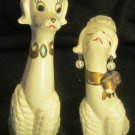 ADORABLE VINTAGE NAPCOWARE HIM & HER POODLE DOG FIGURINE SET OF 2 JAPAN C-6469