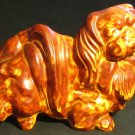 CHARMING VINTAGE HANDPAINTED & GLAZED CERAMIC PEKINGESE DOG FIGURINE