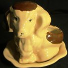 CHARMING CERAMIC POTTERY PUPPY DOG FIGURINE PLANTER