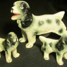 CHARMING HANDPAINTED PORCELAIN COCKER SPANIEL DOG FIGURINE GROUP SET OF 3