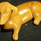 VINTAGE PAINTED CERAMIC MINIATURE FIGURINE DACHSHUND DOG REPAIRED