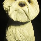 CHARMING WEST HIGHLAND WHITE TERRIER DOG FIGURINE SANDICAST CA SAN DIEGO WESTIE