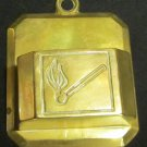 VINTAGE SOLID BRASS DECORATIVE MATCHES HOLDER