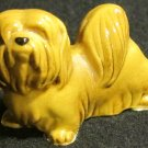 VINTAGE PORCELAIN MINIATURE YORKSHIRE TERRIER YORKIE DOG FIGURINE