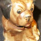 VINTAGE PAINTED CERAMIC DOG FIGURINE BULLDOG