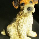 CHARMING PUPPY DOG FIGURINE GLASS EYES