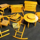 VINTAGE ANTIQUE DOLL HOUSE FURNITURE IN NEED OF TLC NATURAL WOOD