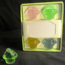 GORGEOUS MULTICOLOR GLASS PLACEHOLDER SET OF 4+2