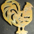 BRONZE COLORED CAST IRON FIGURAL TRIVET ROOSTER HOT PLATE
