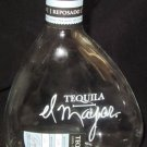 CLEAR GLASS TEQUILA EL MAJOR EMPTY BOTTLE DECANTER CORK STOPPER