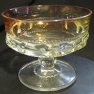 VINTAGE KING'S CROWN THUMBPRINT CHAMPAGNE GLASS COMPOTE DISH TIFFIN CRANBERRY