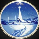 SANTA CLARA BLUE PORCELAIN COLLECTIBLE PLATE #8903 MARIA MENDEZ CHRISTMAS 1975