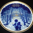 SANTA CLARA BLUE PORCELAIN COLLECTIBLE PLATE #2389 MARIA MENDEZ CHRISTMAS 1972