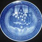 ROYAL COPENHAGEN BLUE PORCELAIN MERRY CRISTMAS 1983 DENMARK