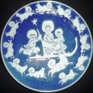ROYAL COPENHAGEN BLUE PORCELAIN MOTHER'S DAY PLATE 1974 DENMARK COLLECTIBLE