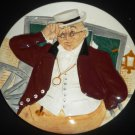 "STOKE-ON-TRENT DAVENPORT POTTERY CO. ""MR PICKWICK"" HAND PAINTED MIB COA PLATE"