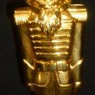 GORGEOUS GODINGER CHRISTMAS GOLDPLATED NUTCRACKER SOLDER NUT CRACKER 1993