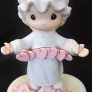 ENESCO PRECIOUS MOMENTS GARLAND GIRL FIGURINE TOO MANY HEARTS E-2821 TRUMPET