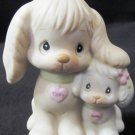 ENESCO PRECIOUS MOMENTS PUPPY LOVE TIPPY & SANDY FRIENDSHIP FIGURINE 520764 CLEF