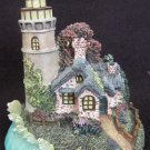 THOMAS KINKADE CHRISTMAS ORNAMENT ILLUMINATED LIGHTHOUSE SERIES NEW DAY DAWNING