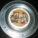 GREAT AMERICAN REVOLUTION CANTON PVK PEWTER PLATE BETSY ROSS & FLAG WADE 1776