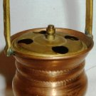 VINTAGE UNIQUE DOLLHOUSE MINIATURE COPPER UMBRELLA HOLDER MADE IN JAPAN