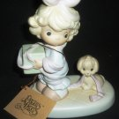 ENESCO PRECIOUS MOMENTS 'TIED UP FOR THE HOLIDAYS' FIGURINE BUTTERFLY # 527580