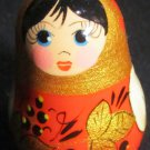 CHARMING MINIATURE KEYCHAIN CHARM RUSSIAN WOODEN DOLL MATRESHKA HANDPAINTED