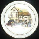 VINTAGE ROYAL VALE BONE CHINA ENGLAND OLD COACH HOUSE YORK MINIATURE PLATE