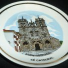 VINTAGE MINIATURE PLATE BRAGA PORTUGAL CATEDRAL DECORACOES MO PORCELANAS